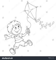 kite flying coloring pages flying kite coloring page
