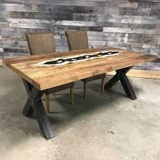 Mango Dining Table Solid Mango Wood Industrial Dining Table Rustic Furniture Outlet
