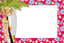 Printable Hawaiian Decorations Girls Hawaiian Party Free Printable Invitations Oh My Fiesta