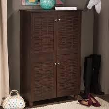 4 Door Cabinet Porch Den Park Bontona Brown 4 Door Shoe Cabinet