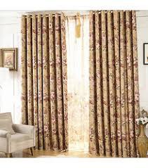 Fancy Drapes Decorative Print Bedroom Room Darkening Orange Floral Curtains