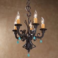 Forged Chandeliers Rustic Chandeliers Turquoise Forged Iron Chandelier Black