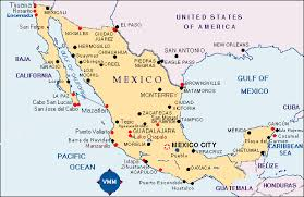 map of the mexico map of mexico printable major tourist attractions maps