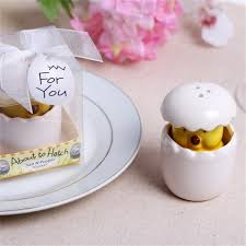 salt and pepper wedding favors ceramic broken shell salt pepper shaker wedding favors and