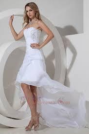 stylish high low asymmetrica beach wedding dresses 2014