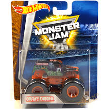 grave digger monster truck toys 1 64 wheels monster jam grave digger 25th anniversary black