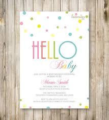 hello baby shower theme rainbow baby shower invitation hello baby colorful rainbow baby
