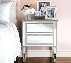 Mirrored Nightstand Sale Side Table Lucia Mirrored Bedside Table With 3 Drawers Target