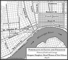 Map Of The French Quarter In New Orleans by Margaret Haughery Bread Woman Of New Orleans E Bethlehem Books