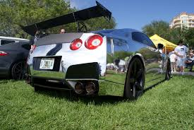 chrome nissan file nissan gtr r35 2010 chrome wrapped rsiderear low fossp