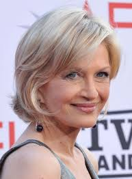 layered bob hairstyles for over 50s diane sawyer short bob haircut hairstyles weekly for most graceful