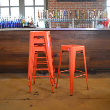 orange bar stools kitchen u0026 dining room furniture the home depot