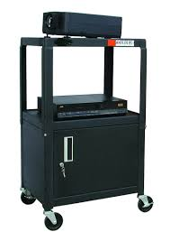 multimedia cart with locking cabinet buhl hacab4226e metal av cart with locking cabinet metals and shelves