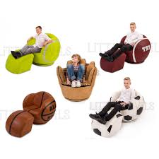 Childrens Faux Leather Armchair Big Kids Rugby Chair Sport Theme Games Chair Armchair Childrens