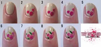 how to do nail art flowers choice image nail art designs
