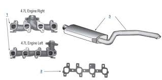 2000 jeep grand exhaust system wj grand replacement exhaust 4 wheel parts