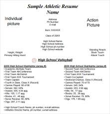 sports resume for college exles gallery of athletic resume template