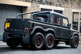modified land rover land rover defender flying huntsman 6x6 pickup hiconsumption