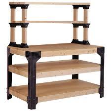 workbench shelving unit potting bench storage system 2x4 lumber