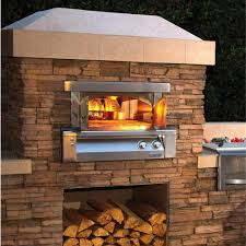 Chiminea With Pizza Oven Alfresco 30 Inch Built In Natural Gas Outdoor Pizza Oven Axe Pza