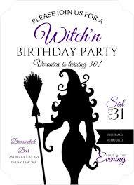 sassy witch halloween birthday party invitation halloween