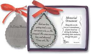 god saw him getting tired memorial ornament
