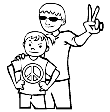 peace signs 3d colouring pages clip art library