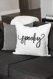how to make a spooky halloween pillow cricut throw pillows and