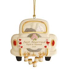 just married wedding ornament ornament and tree