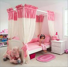 pink bed linen and white side bed for elegant princess bedroom