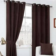 Chocolate Curtains Eyelet Faux Suede Chocolate Eyelet Curtains Dunelm