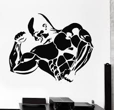 amazon com bodybuilding iron man sport weight decor wall mural amazon com bodybuilding iron man sport weight decor wall mural vinyl art sticker z821 home kitchen