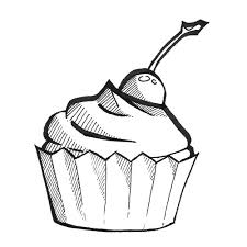 cupcake clipart sketch pencil and in color cupcake clipart sketch