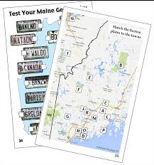 Vanity Plates Maine Maine License Plate Game U0026 Puzzle Book The Maine Plate