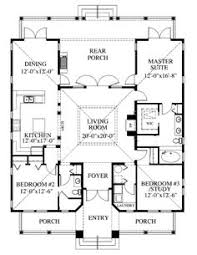Country Style Homes With Open Floor Plans Simple Box Shape With Open Floor Plan And A Lot Of Porch House