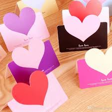 wedding wishes envelope best quality heart shape birthday greeting cards with envelope