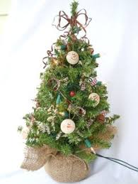 Pre Decorated Christmas Trees Tabletop by 12 Artificial Cardinal Feathered Birds 5