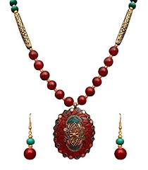 fashion jewelry red necklace images Buy sitashi fashion jewellery valentine collection rajasthani jpg