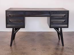 sleek desk ebonized oak desk for vanleigh for sale at 1stdibs