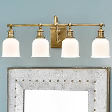Antique Brass Bathroom Light Well Appointed Bath Light 4 Light Bath Light Bath And Lights
