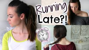 hairstyles when quick and easy hairstyles when running late youtube