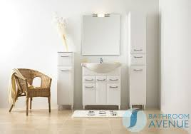 Bathroom Tall Cabinet by White Bathroom Laundry Hamper Tall Cabinet Unit Bibiana Bathroom
