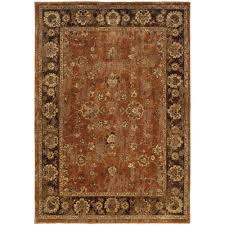 home decorators area rugs home decorators collection calabria rust 5 ft 3 in x 7 ft 6 in