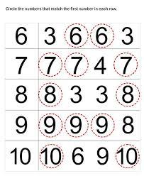 preschool worksheets number matching worksheets for preschoolers