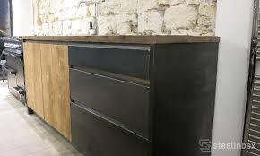 meuble cuisine acier emejing cuisine bleu acier ideas design trends 2017 shopmakers us