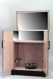Flip Top Bar Cabinet Deco Mirrored 2 Door Flip Top Bar Cabinet With Blue