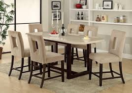 High Top Dining Room Table Marble Top Dining Room Sets Home Design Ideas And Pictures