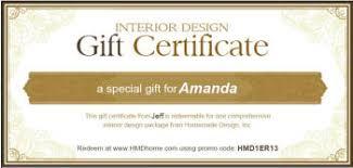 online gift certificates housewarming gift certificates for interior design printable