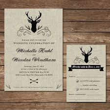 wedding invitation diy rustic deer wedding invitation diy wedding invitation
