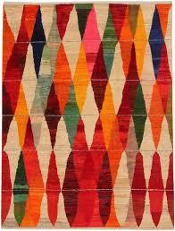 Harlequin Rug Old Yarn Iki Loom Rugs